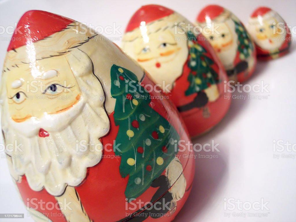 Babushka Santas royalty-free stock photo
