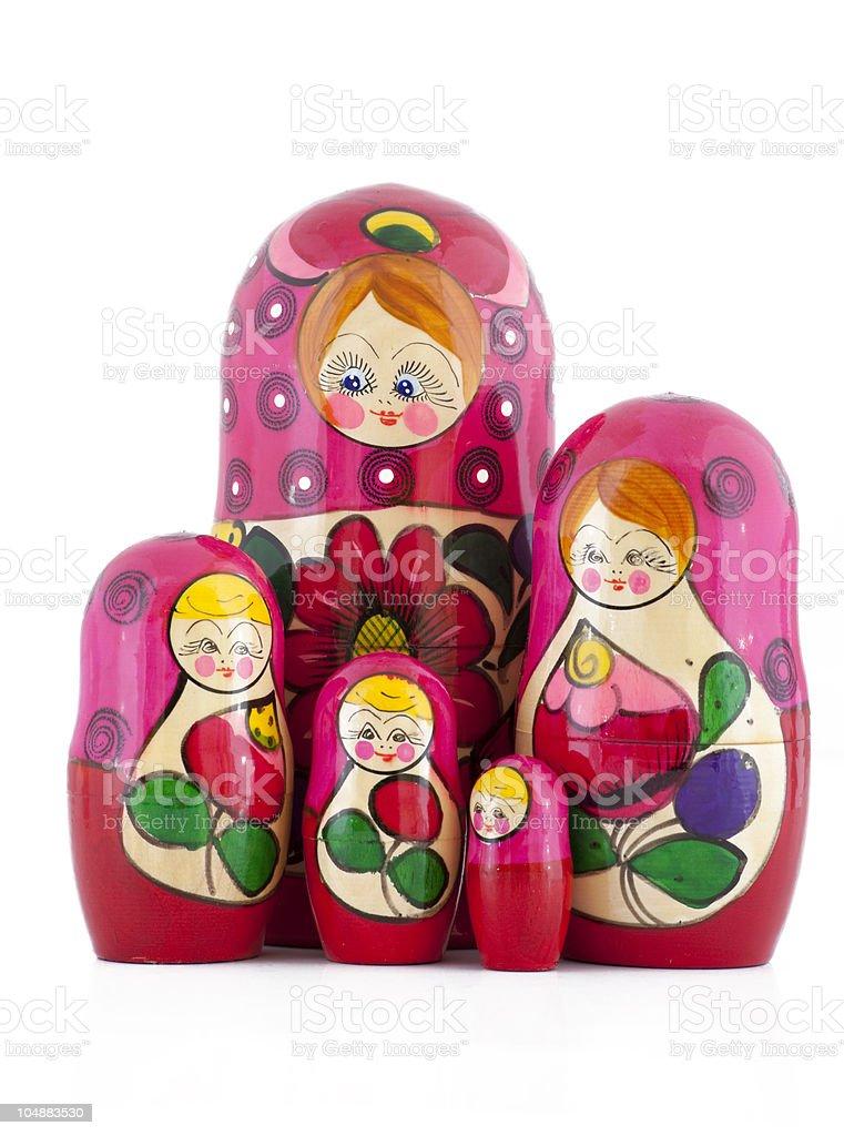 Babushkas or matryoshkas dolls royalty-free stock photo