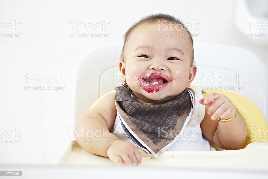 Baby after fed royalty-free stock photo