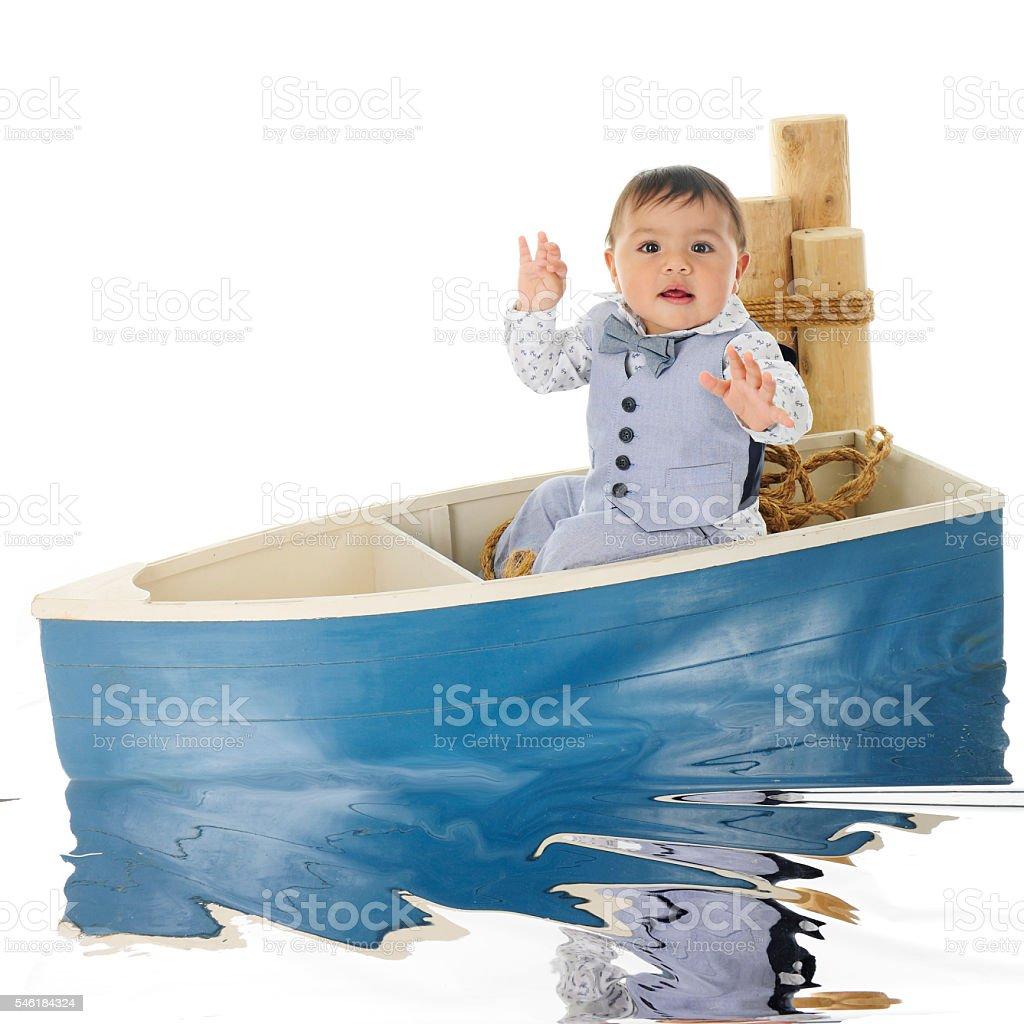 Baby Anchor's Away stock photo