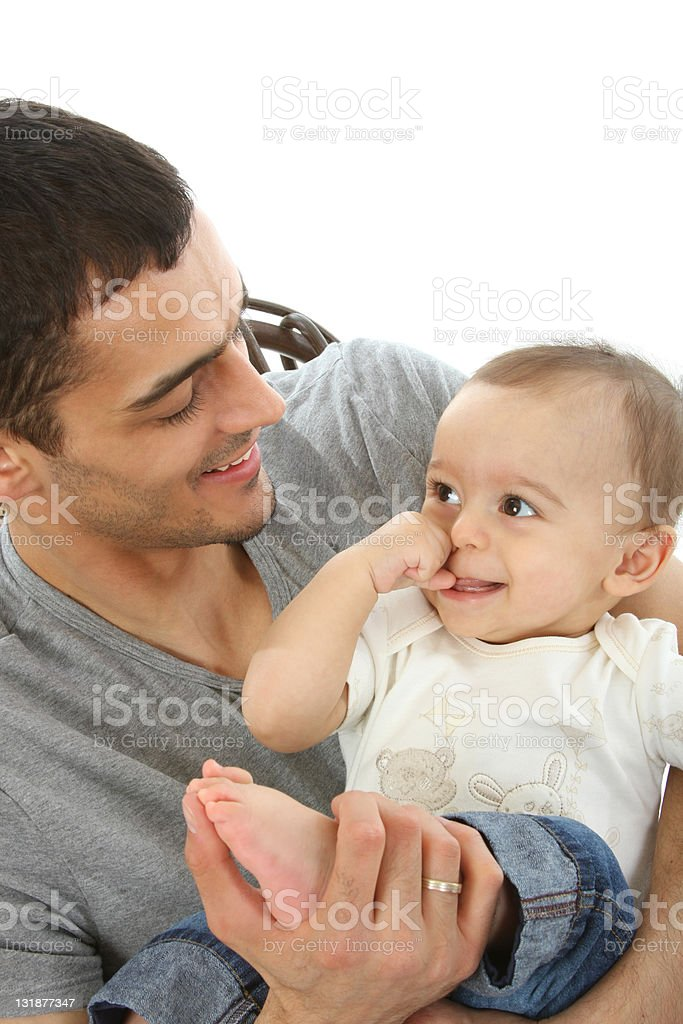 Baby and Father royalty-free stock photo