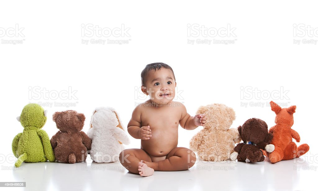 Baby and Friends stock photo