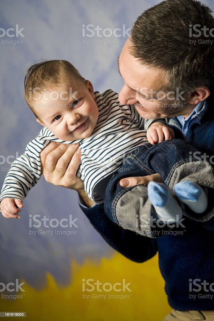 baby and his daddy royalty-free stock photo