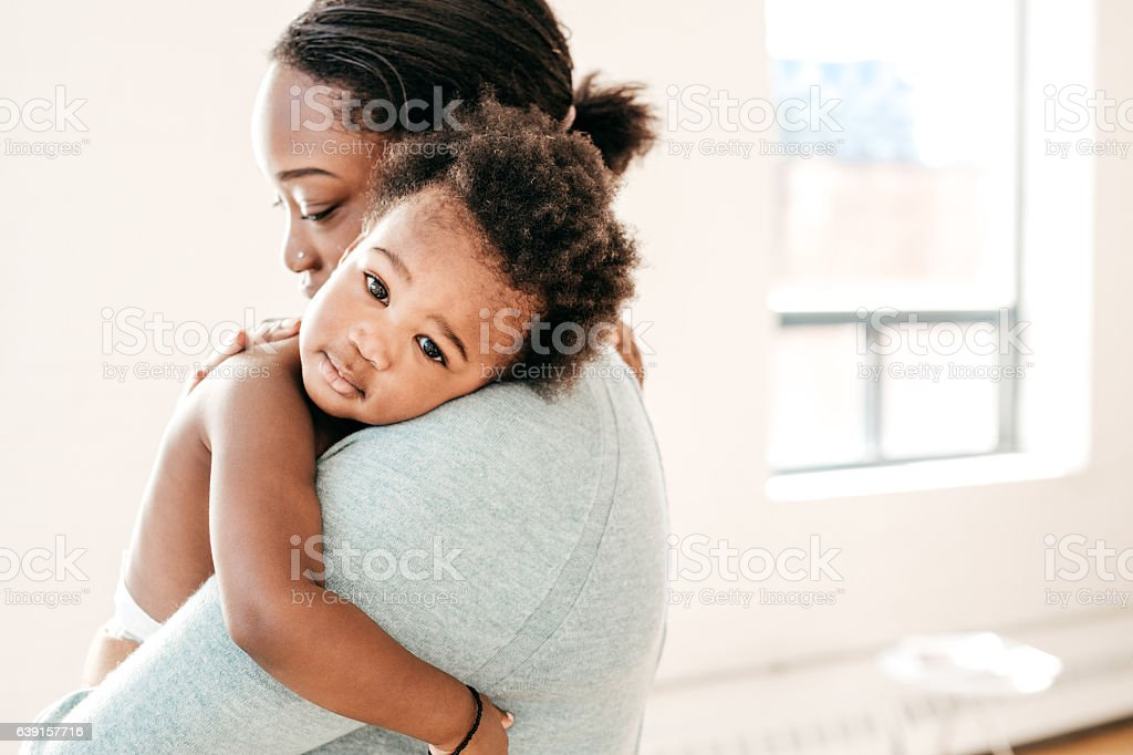 Baby and mom stock photo