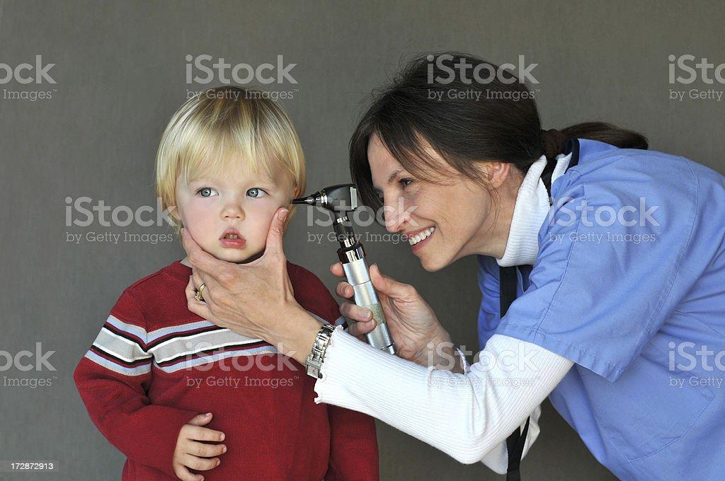 baby and nurse royalty-free stock photo
