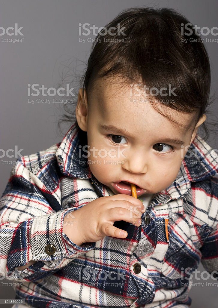 Baby and snack royalty-free stock photo