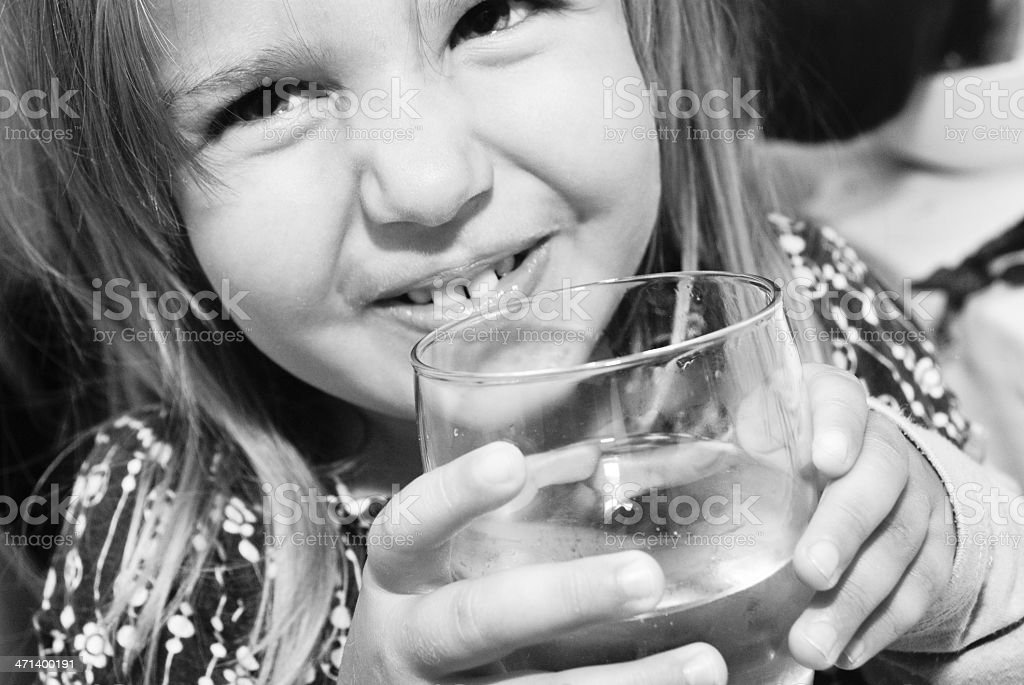 Baby and water royalty-free stock photo