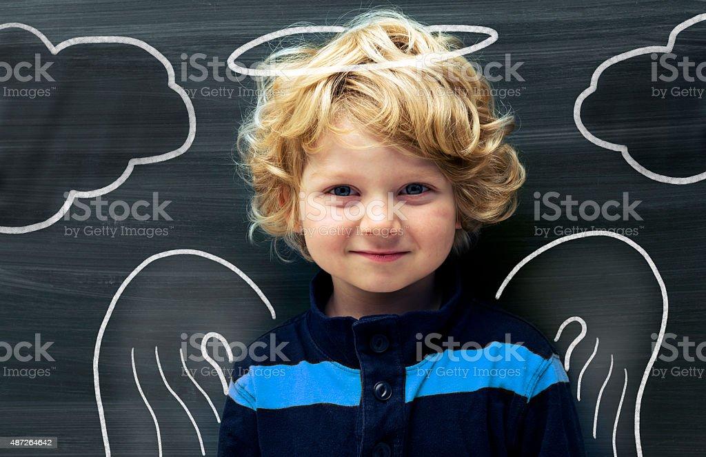 Baby Angel stock photo