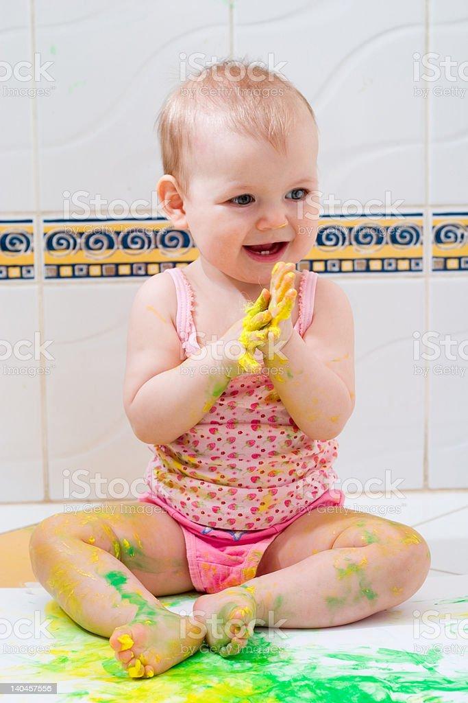 baby artist royalty-free stock photo