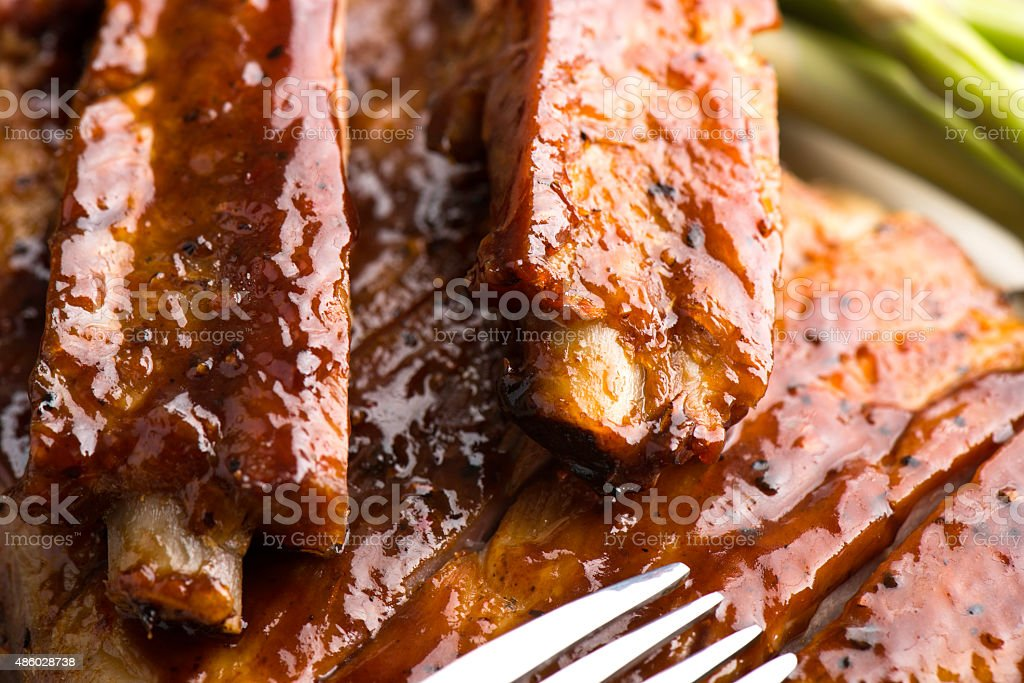 Baby Back Pork Rib stock photo