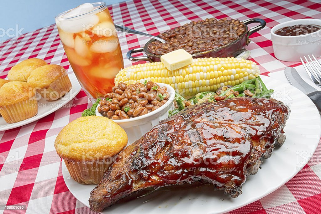 Baby Back Rib Dinner royalty-free stock photo