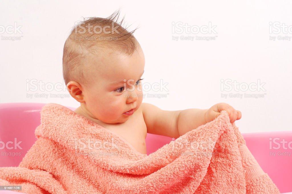 baby bath royalty-free stock photo