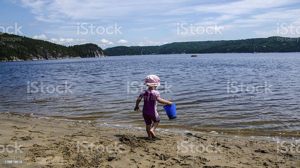 Baby, Beach, Child, Summer, Toy, Sea, Lake royalty-free stock photo