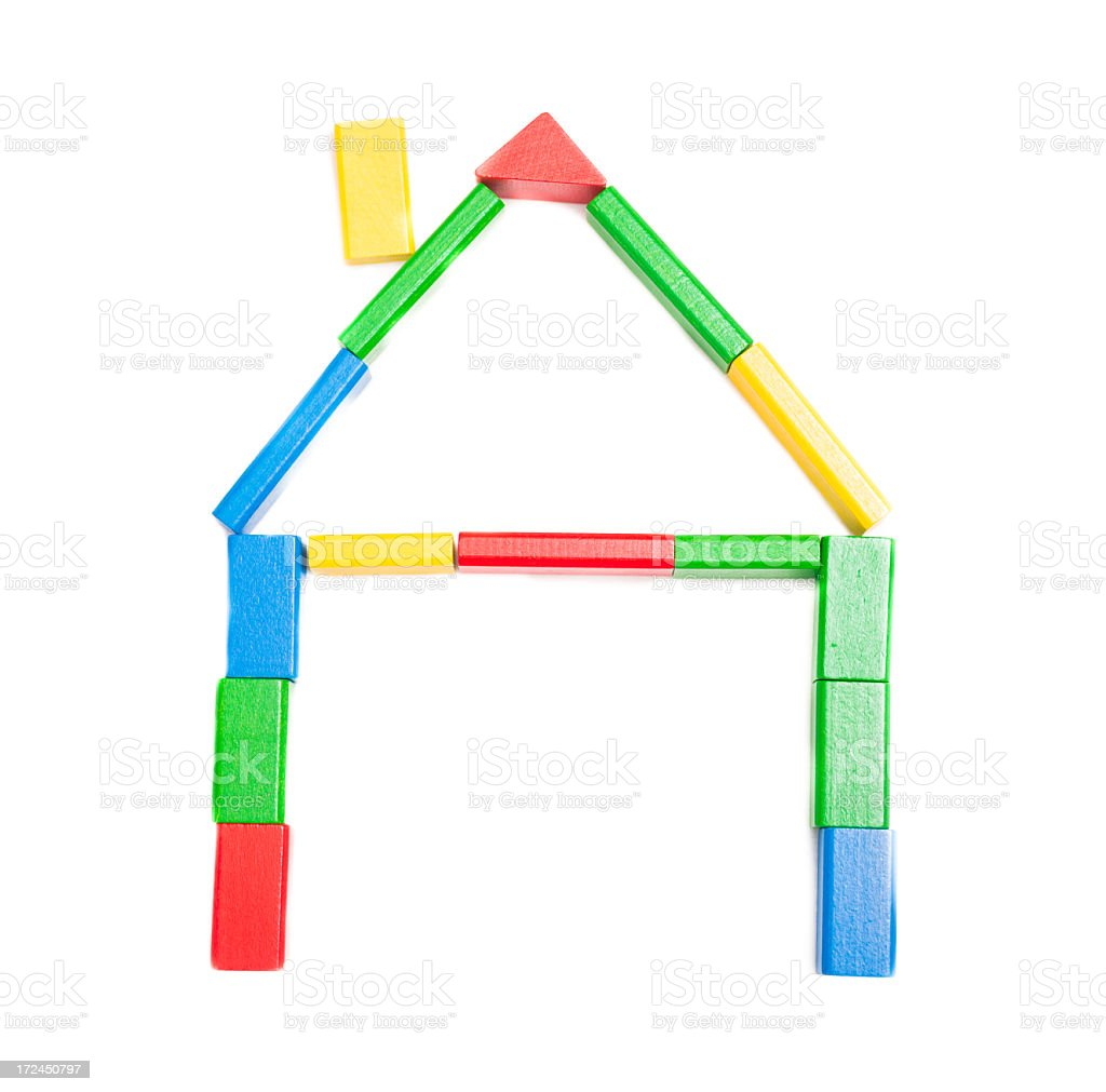 Baby Blocks House Concept royalty-free stock photo