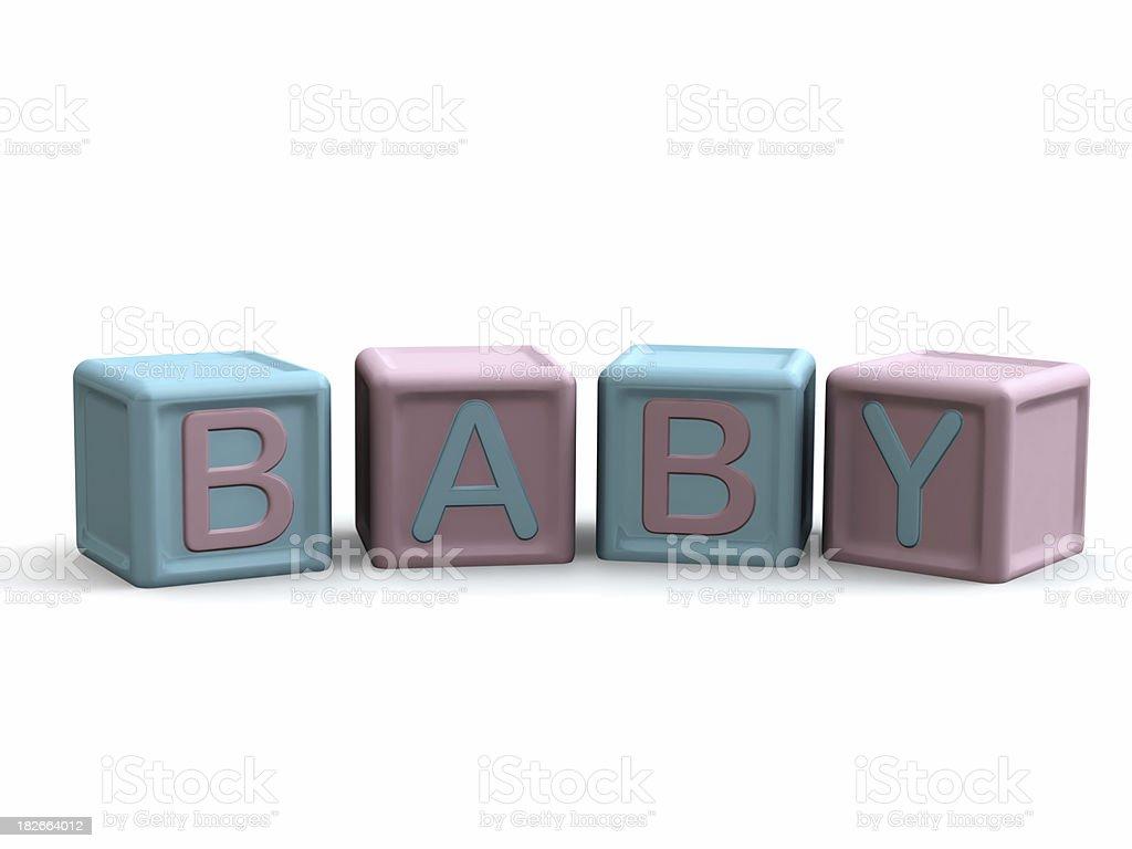 Baby Blocks royalty-free stock photo