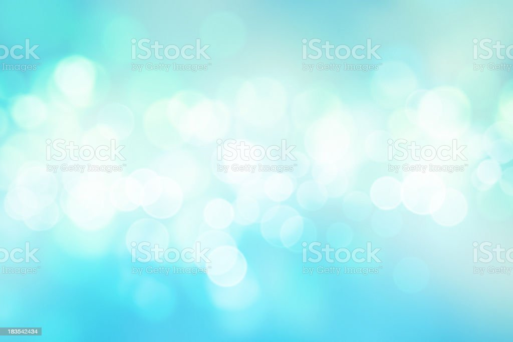 Baby blue defoccused lights stock photo