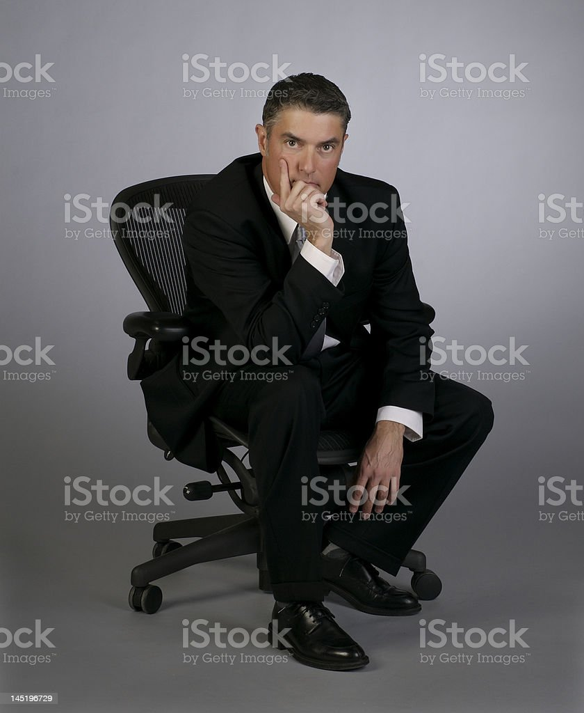 Baby Boom Age Business Man royalty-free stock photo