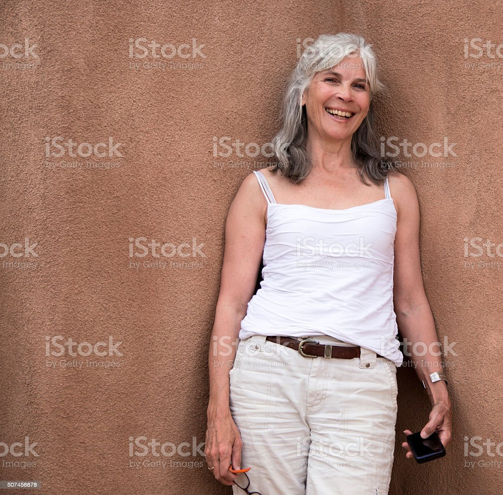 Baby boomer laughing stock photo
