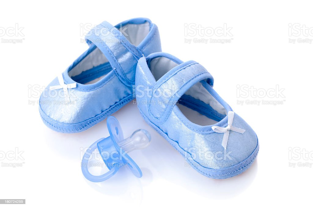 Baby Booties and Pacifier royalty-free stock photo