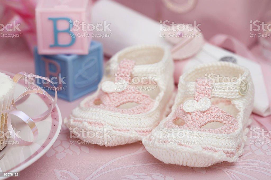 Baby booties stock photo