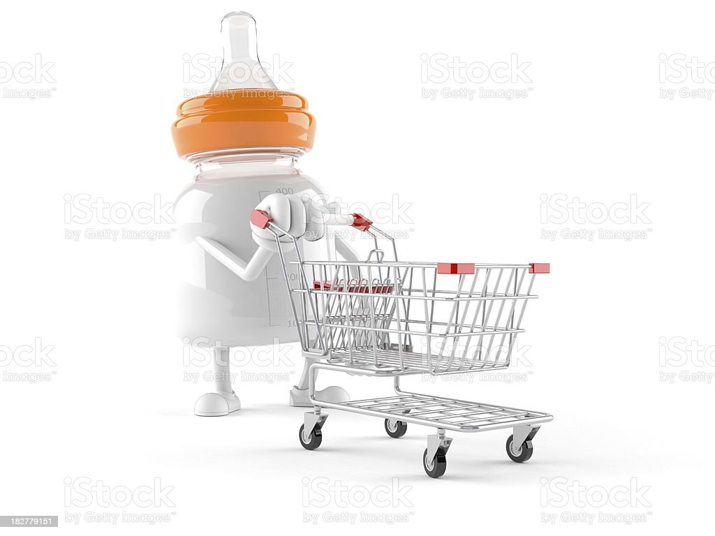 Baby bottle royalty-free stock photo