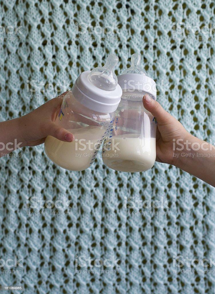 baby Bottle toast royalty-free stock photo