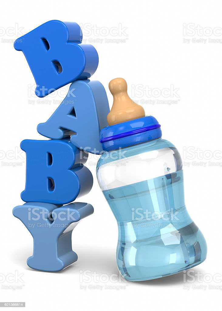 Baby Bottles - 3D stock photo