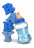 Baby Bottles - 3D