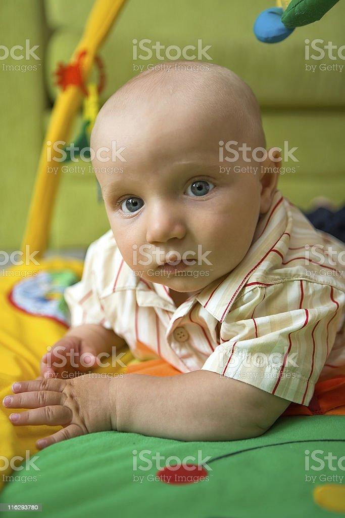 Baby boy at home. royalty-free stock photo