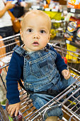 Baby Boy at the supermarket