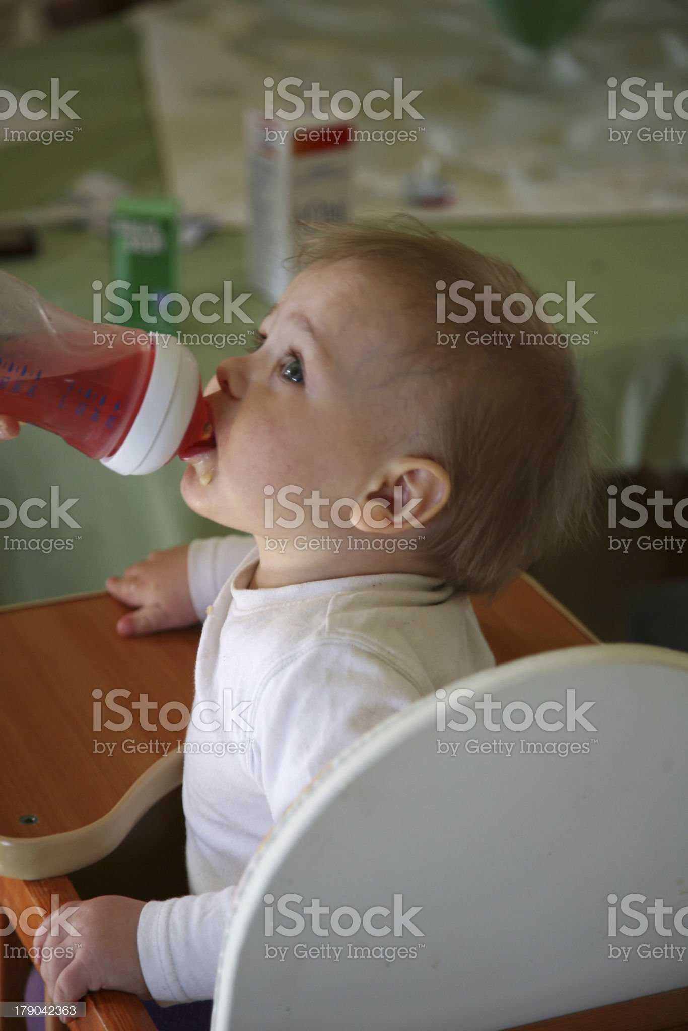 baby boy being fed royalty-free stock photo