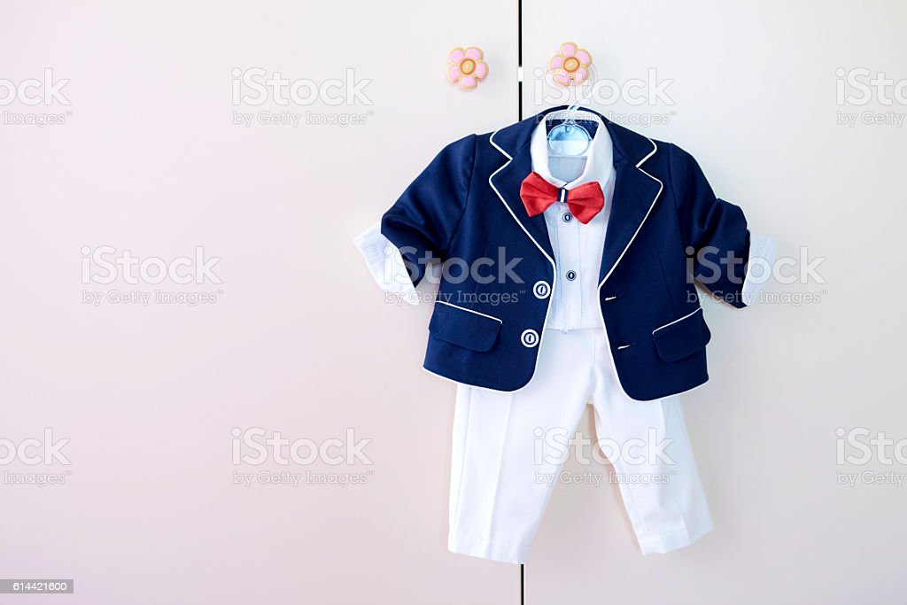 baby boy clothes stock photo