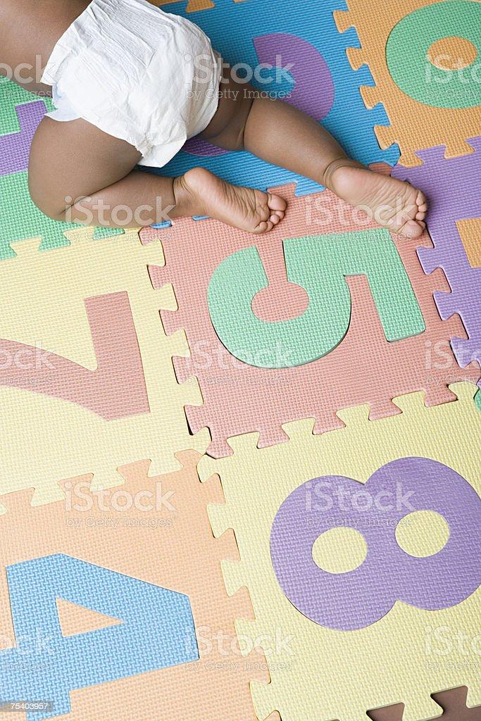 Baby boy crawling royalty-free stock photo