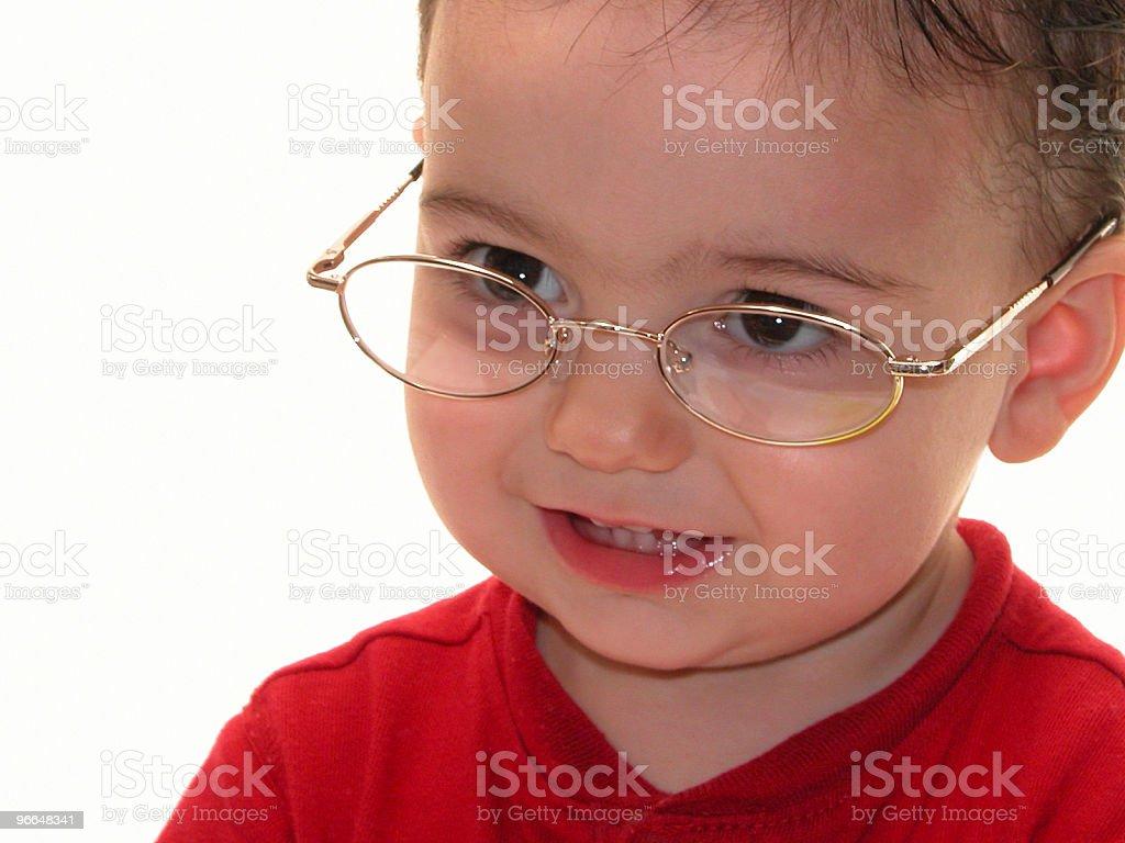 Baby Boy in Glasses stock photo