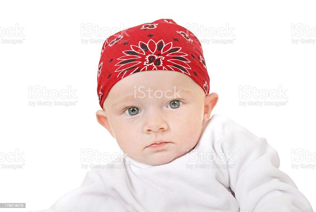 Baby Boy in Headscarf royalty-free stock photo