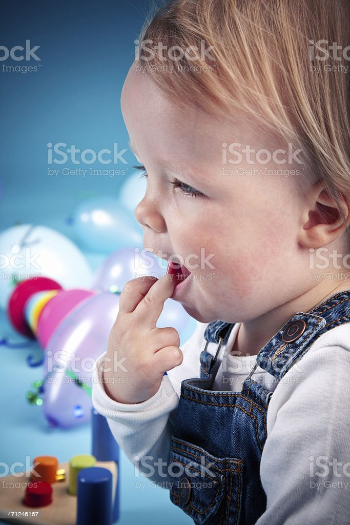 Baby boy playing royalty-free stock photo