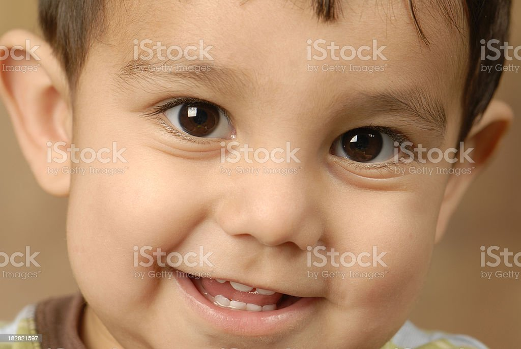 Baby Boy Smile stock photo