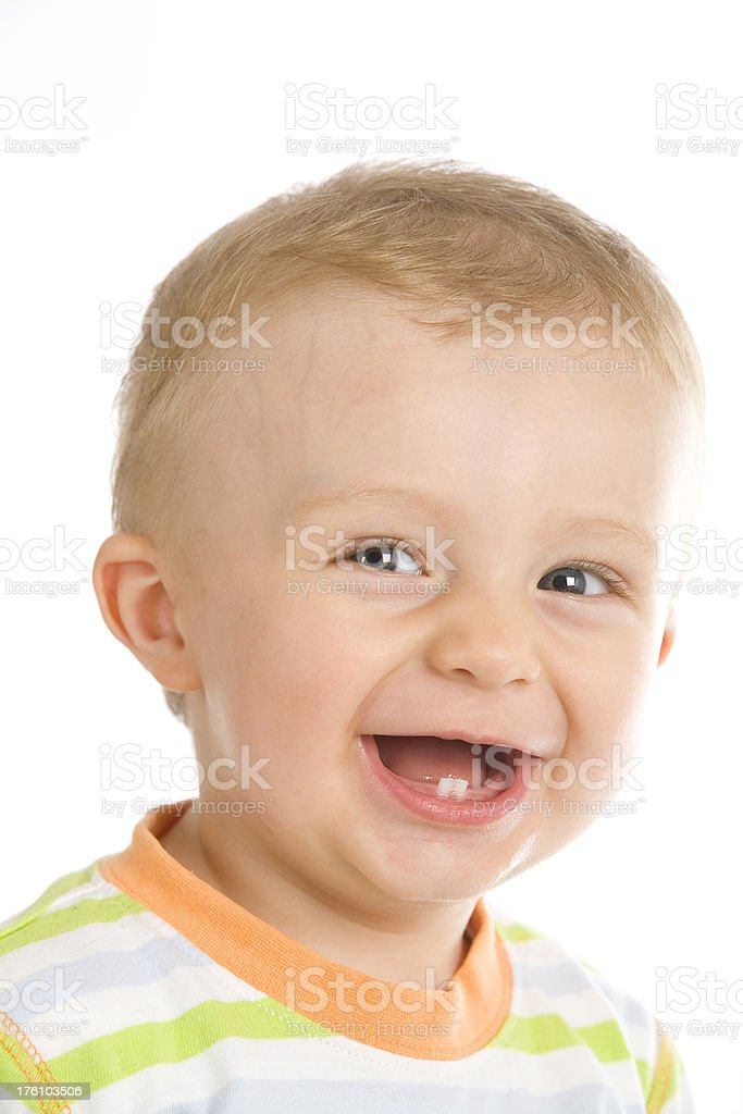 baby boy smiling royalty-free stock photo