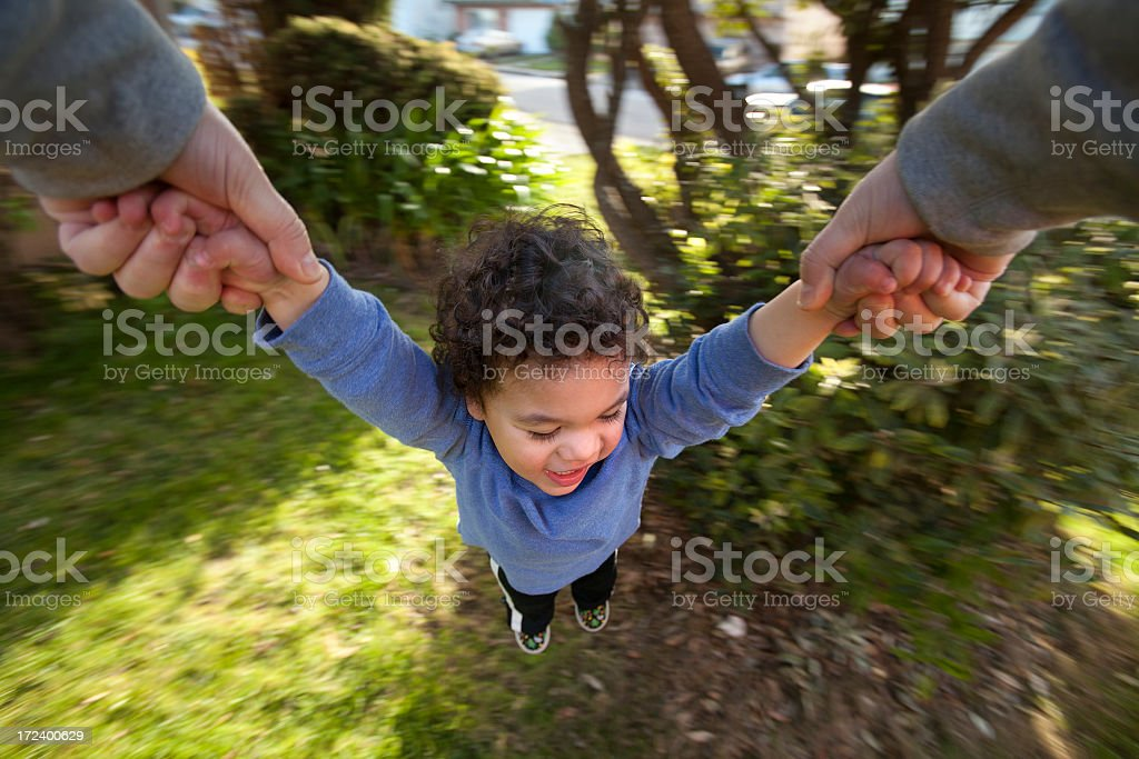 Baby Boy Spinning royalty-free stock photo