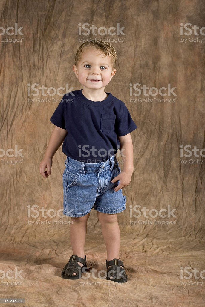 Baby Boy Standing Pose royalty-free stock photo