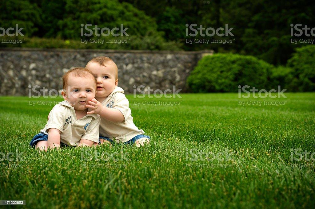 baby boys chillin' royalty-free stock photo