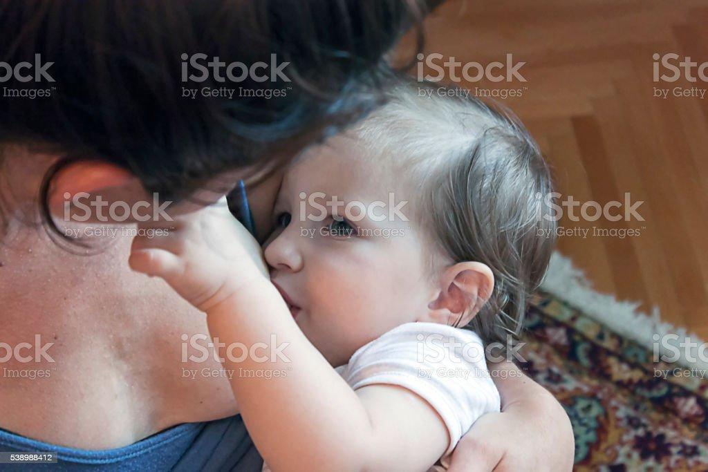 breasfeeding bambino foto stock royalty-free