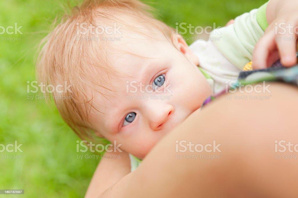 baby breastfeeding royalty-free stock photo