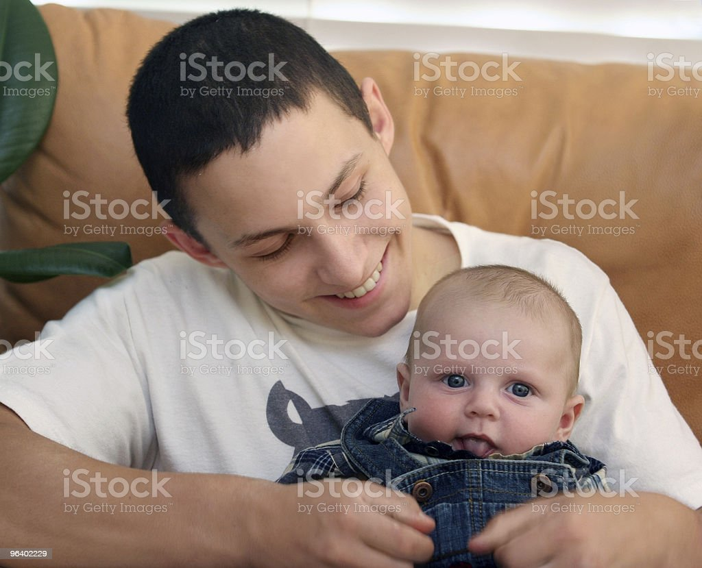 Baby brother stock photo
