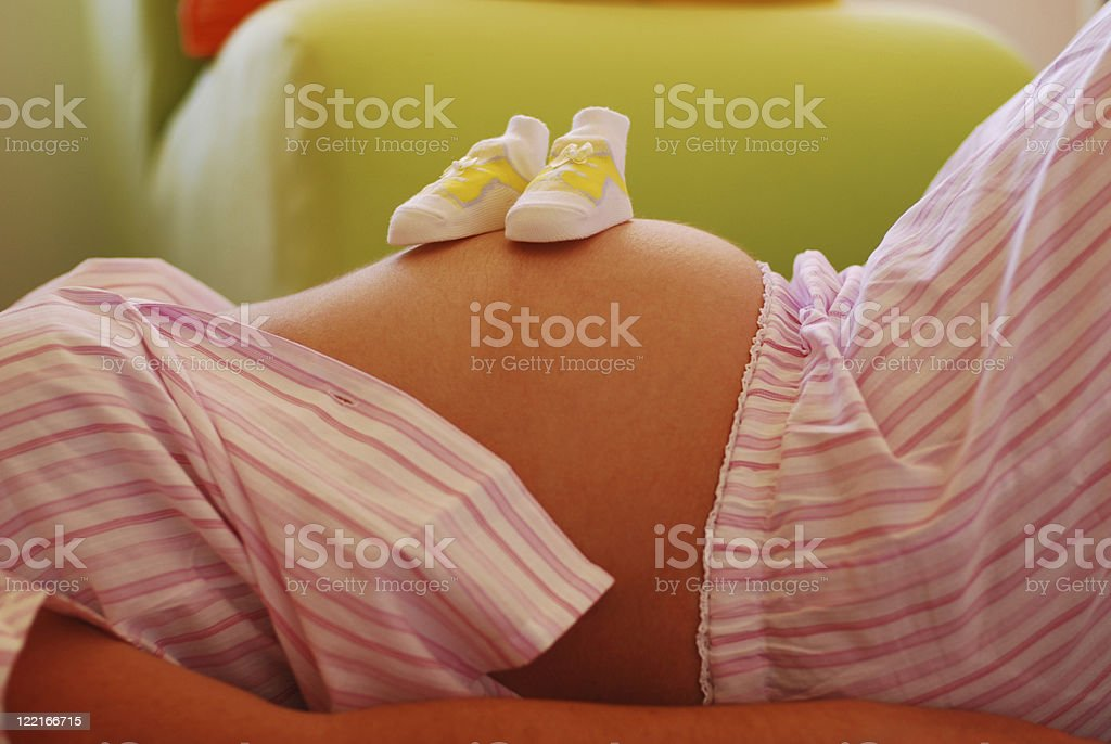 Baby Bump Pregnant Young Woman Stomach royalty-free stock photo