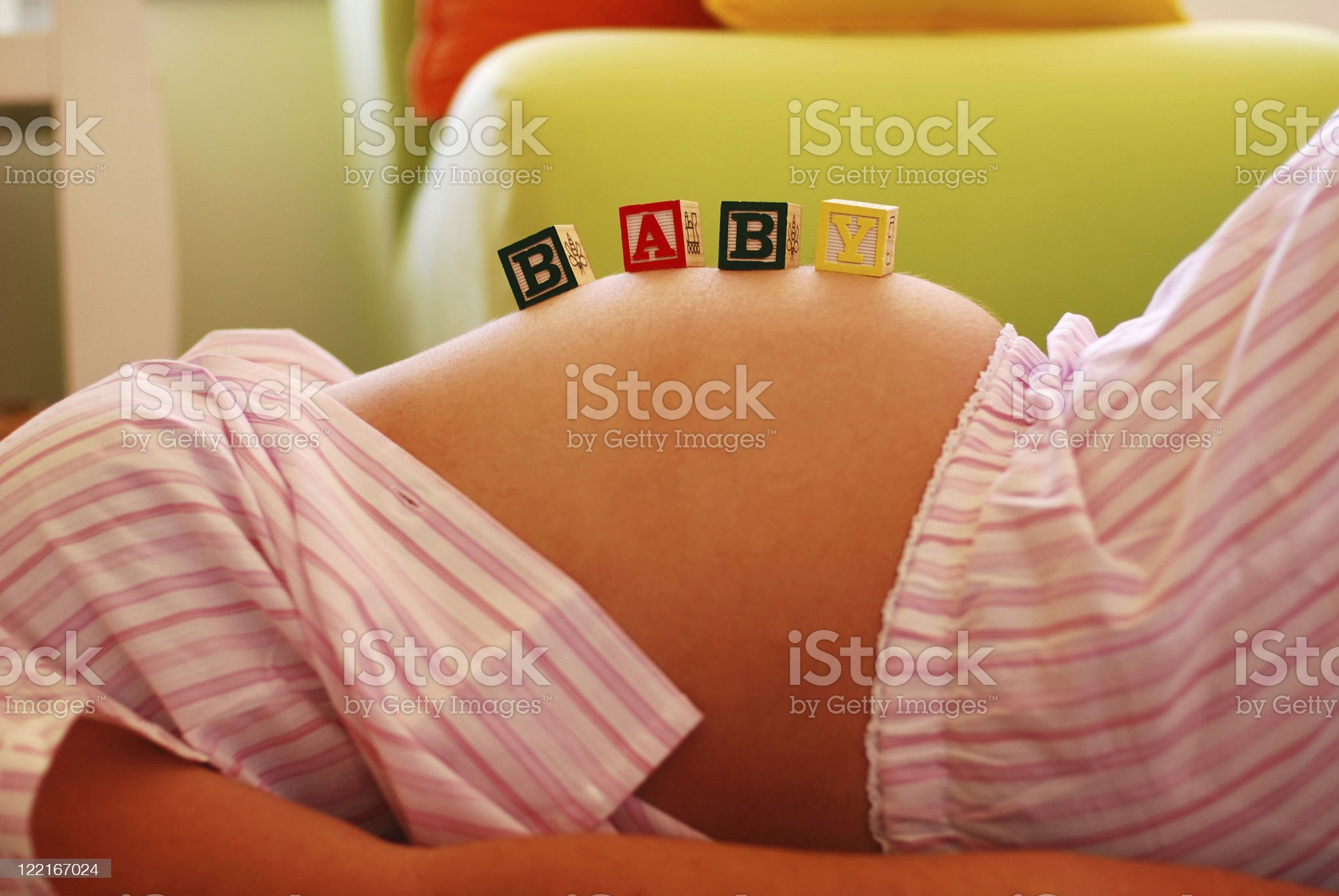 Baby Bump Pregnant Young Womans Stomach royalty-free stock photo