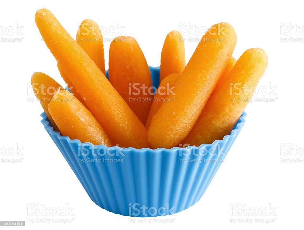 Baby Carrot Snack (path) royalty-free stock photo