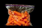 Baby Carrots in Freezer Bag