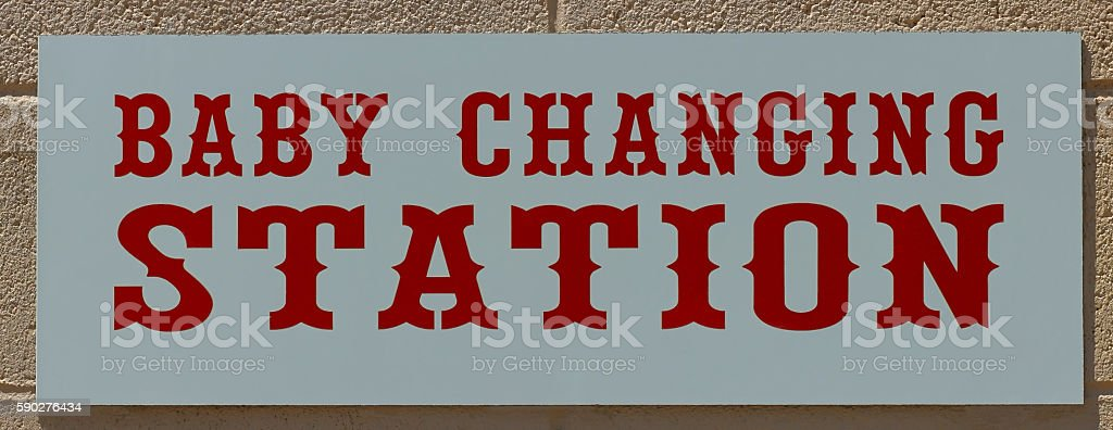 Baby Changing informative sign. stock photo
