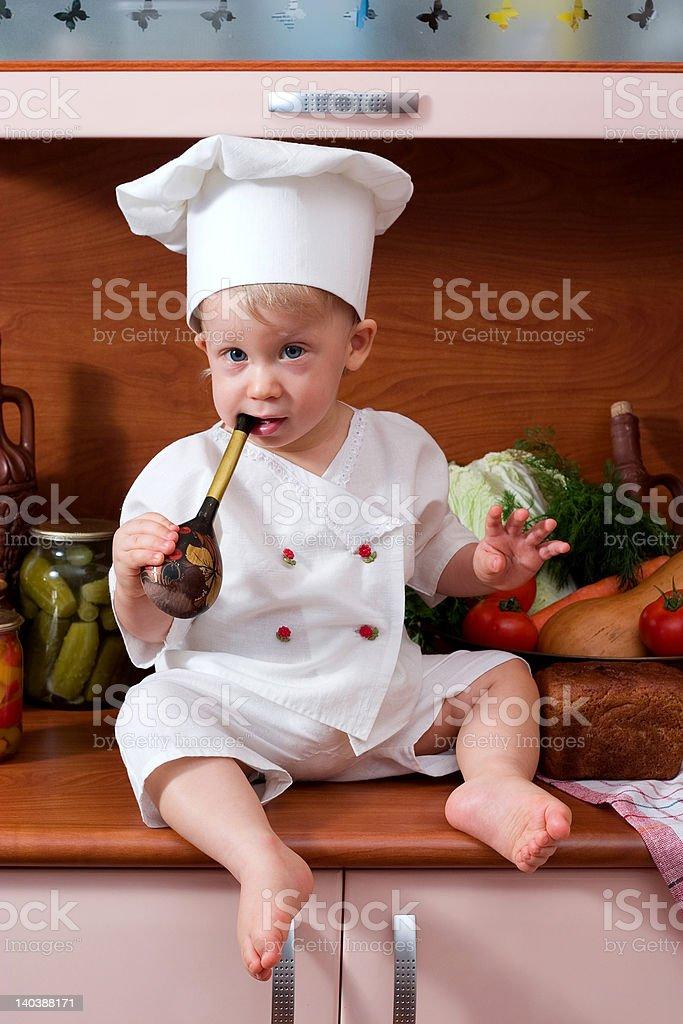 baby chef royalty-free stock photo
